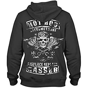 Customer reviews 1/4 Mile Kult ClothingTM Hoodie Hot Rod nitromethane NHRA USA Nitro Hot/Rat Rod Gasser Nitro Gearhead (3XL, Black)