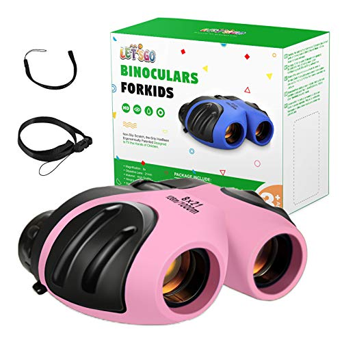 LET'S GO! Toys for 3-12 Years Old Girls, Kids Binoculars Presents for 3-12 Years Old Girls Toys for Girls Age 3-12 Birthday Gifts for 3 4 5 6 7 8 9 10 11 12 Year Old Girls Toys for Kids
