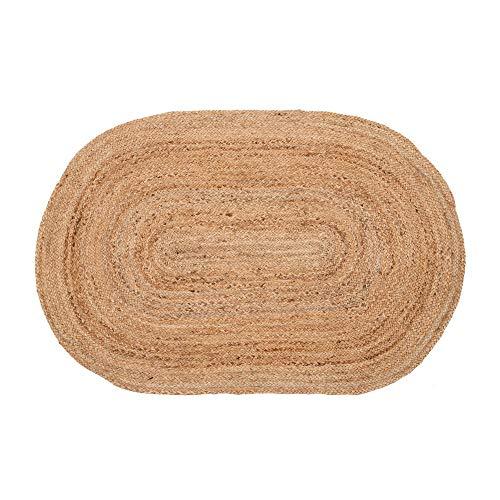 Alfombra Trenzada Ovalada Natural de Yute de 180x120 cm - LOLAhome