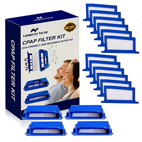 16 Pcs CPAP Filters Compatible with Philips Dreamstation CPAP Machine, Replacement Dreamstation Filter Kit Includes 4 Pollen Filter and 12 Disposable Ultra-Fine Filters - CPAP Supplies