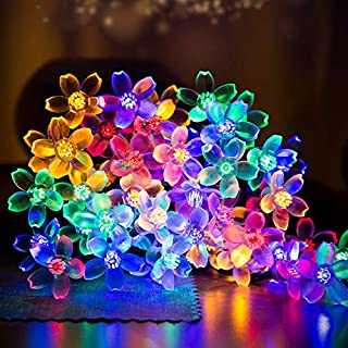 Solar Powered LED String Lights,MINGER 20ft 30 LED Flower Blossom Decorative Light Solar Fairy Lights, Garden Lights for Outdoor, Home, Lawn, Wedding, Patio, Party and Holiday Decorations