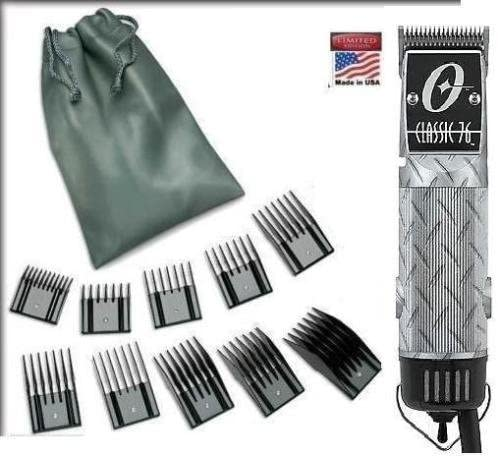 high quality Oster Classic 76 Silver Diamond Plate Design sale Limited 2021 Edition Hair Clipper + 10 Piece Combs outlet sale