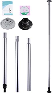 Sawan Shop Dance Pole Full Kit Portable Stripper Exercise Fitness Club Party Dancing Silver