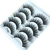 1 Box/Lot 3D Real Mink False Eyelashes MZ BEAUTY 100% Siberian Mink Fur Luxurious Fluffy Messy Cross Long 5 Pairs Fake Eye Lashes G815