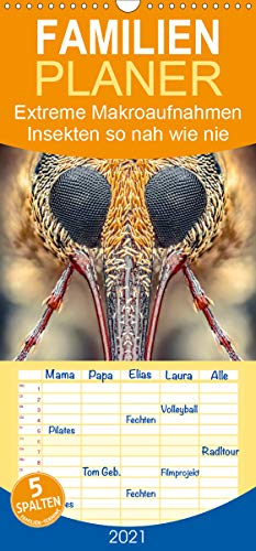 Extreme Makroaufnahmen - Insekten so nah wie nie - Familienplaner hoch (Wandkalender 2021, 21 cm x 45 cm, hoch)