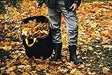 Fiskars Großer PopUp-Gartensack mit Griffen, Platzsparend faltbar, Fassungsvermögen: 219 L, Höhe: 70 cm, Breite: 56 cm, Schwarz/Orange, Ergo, 1028373 - 5