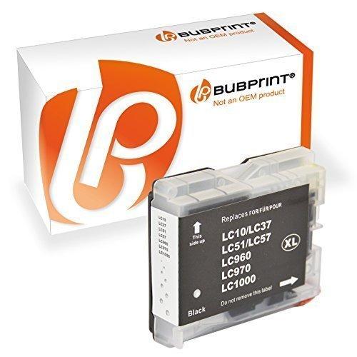 Bubprint Druckerpatrone kompatibel für Brother LC-1000BK LC-970BK für DCP-130C DCP-135C DCP-150C DCP-330C DCP-350C DCP-540CN MFC-235C MFC-240C Schwarz
