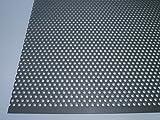 B&T Metall Lamiera perforata RV 3-5 in acciaio inox, con foratura circolare, spessore: 1,0 mm, diametro dei fori: 3 mm, allineamento sfalsato dei fori