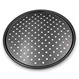 Pizza Crisper Pan,Non-Stick, Carbon Steel, Tray Pizza Pan with Holes,12 inch Pizza Pan,Outer edge...
