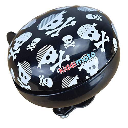 KIDDIMOTO Glocke Design Klingel/Fahrradklingel zubehör für Fahrrad, Roller, Scooter, Kinderroller Kinderfahrrad & Laufrad - Skullz/Pirat - Gross (80mm)