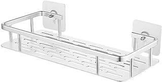 KES Drill Free Bathroom Shower Shelf Aluminum Self Adhesive Kitchen Shelf Organizer Shower Caddy No Drilling, A4028ADF