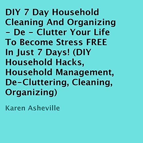 DIY 7 Day Household Cleaning And Organizing audiobook cover art