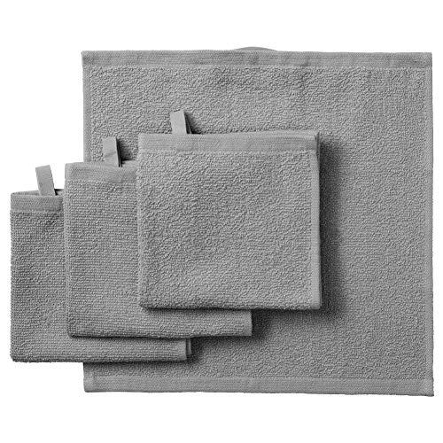 IKEA ASIA Kornan Waschlappen, Grau, 30 x 30 cm, 4 Stück