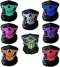 CIKIShield Skull Seamless Scarf Bandanas Black (8pcs-Color Set)