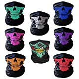 CIKIShield Skull Seamless scarf Bandanas Black (8pcs-Color Set)