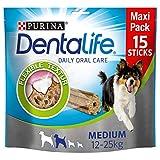 PURINA DENTALIFE Lot de 5 Paquets de friandises de Soins dentaires pour Chiens de Taille Moyenne - Réduit la Formation de tartre et la Mauvaise haleine - Poulet - Grands Chiens - 5 x 345 g