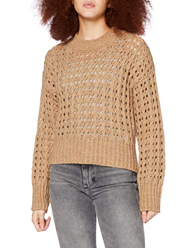 United Colors of Benetton 104BE1M85 Maglione, Beige 81R, L Donna