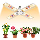 BOSYTRO 150W LED Grow Light Bulb Full Spectrum,Plant Light Bulb with 192 LEDs for Indoor Plants,E26/E27 Socket,Grow Lamp for Hydroponic Indoor Garden Greenhouse Succulent Veg and Flower