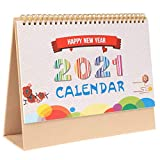 Small Desk Calendar 2020-2021, Desktop Flip Monthly Calendar on Easel, Jul. 2020 - Dec. 2021, Standing Desk Calendar, 9.45 x 7.09 Inches, for Planning and Organizing, School Home Office Supplies