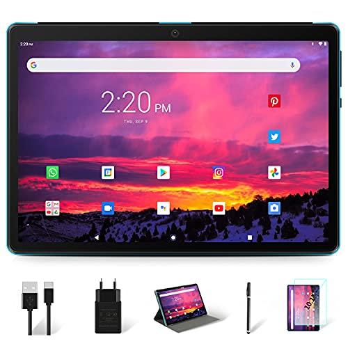 Tablet 10 Pollici 8-core 1.6 GHz Processor Android 10 Pro 4GB RAM 64GB ROM MEBERRY 1280 * 800 IPS Tablets, 128GB Espandibile| 8000mAh| Fotocamera(5MP+8MP)| Bluetooth| GPS|Google GMS, Solo WIFI, Blu