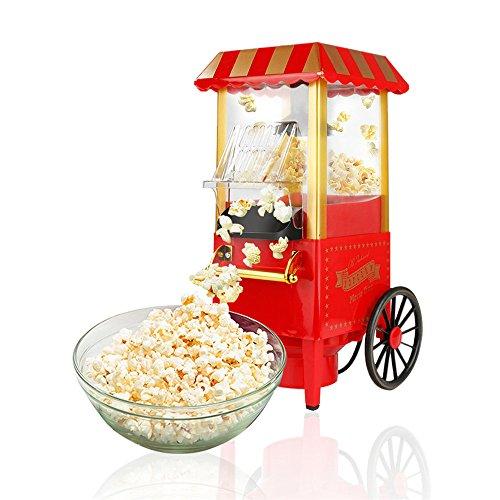 Popcornmaschine Popcornmaker Popcorn Automat Popcorngerät Nostalgie Popcorn Maschine rot Retrolook