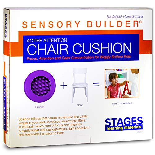 Stages Learning Materials Sensory Builder Active Attention Chair Cushion, Purple