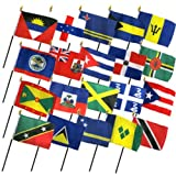 Our 4x6 inch Stick Flags are perfect for displaying on your desk or table, or for waving in a parade to show your national pride Mounted on stick with a stitched sleeve (no eyesore staples) 100% polyester flag printed in bright colors Flag is stitche...