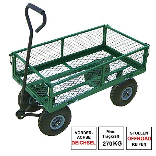 Izzy Bollerwagen Gartenwagen Handwagen Luftreifen Deichsel (275kg)