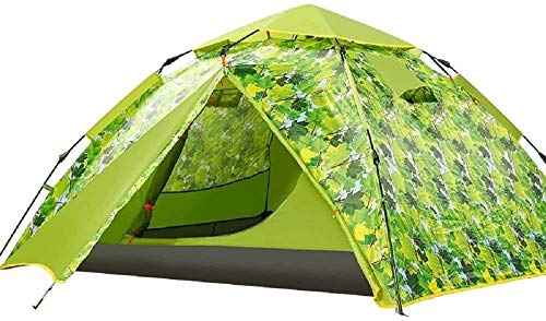 ZOUJUN Waterproof Camping Tent for 1 2 3 4 Person with Footprint Tarp Easy Portable with Carry Bag, for All Seasons