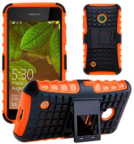 G-Shield Hülle für Nokia Lumia 530 Stoßfest Schutzhülle mit Ständer - Orange