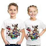 マリオTシャツ3Dカジュアル半袖Tシャツ男の子と女の子 74252,110cm