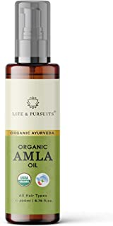 Life & Pursuits USDA Organic Amla Oil, 200 ml for Hair Growth, Strong & Healthy Hair with Triphala, Hibiscus