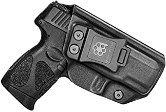 Amberide IWB KYDEX Holster Fit: Taurus G2C & Millennium G2 PT111 / PT140 | Inside Waistband | Adjustable Cant | US KYDEX Made (Black, Right Hand Draw (IWB))