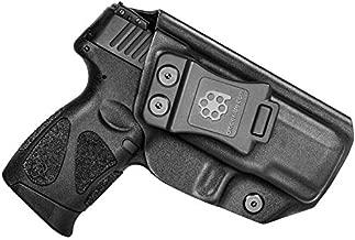 Amberide IWB KYDEX Holster Fit: Taurus G2C & Millennium G2 PT111 / PT140 | Inside Waistband | Adjustable Cant | US KYDEX Made (Black, Left Hand Draw (IWB))