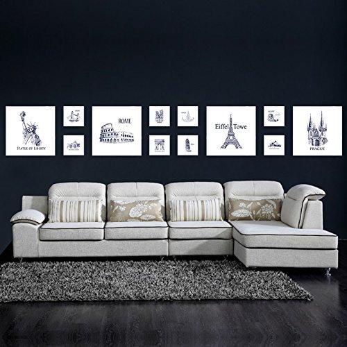 Fotolijst*Foto wandsieraad wand woonkamer ideeën uit de stans foto woonwand, 6-White Box
