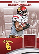 Nelson Agholor player worn jersey patch football card (USC Trojans) 2015 Panini Team Collection #NA-USC
