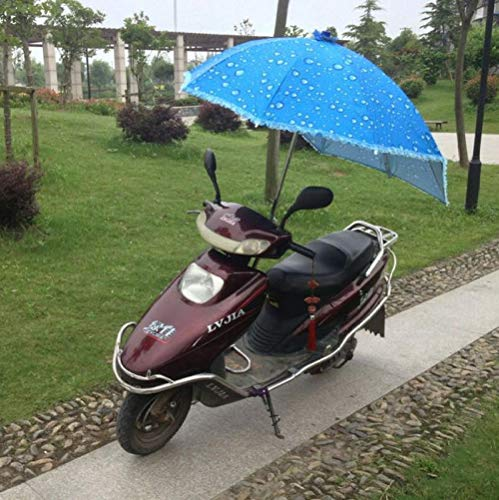 Powzz ornament Paragüero de coche eléctrico de protección solar triciclo parasol de motocicleta paraguas-azul_1.1m*1.5m