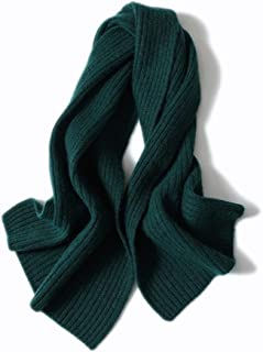Scarves Scarf Scarves Women's Scarf Winter Thicken Scarf Solid Color Cashmere Scarf Short Warm Scarf Scarves (Color : Green)