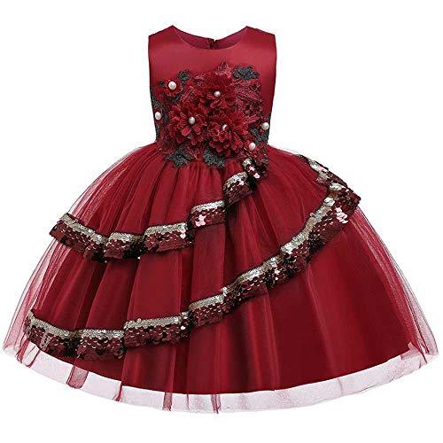nobrand Baby Kinder Mädchen Kleid Kinder Zeremonien Party Kleider Blume Prinzessin Brautkleid Baby Mädchen Weihnachtskleid
