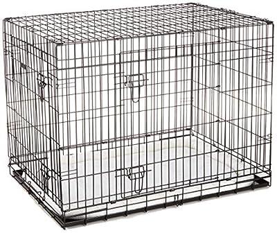 ellie-bo Deluxe extra fuerte 2puerta plegable perro perrito de la jaula con cama de matrimonio oveja sintética X Large