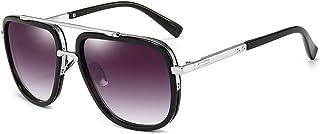 Oversized Square Sunglasses for Men Women Pilot Shades Gold Frame Retro Glasses