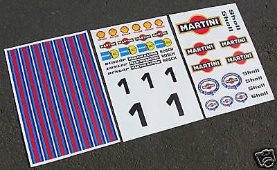 HPI BAJA 5T 1/5th RC MARTINI sticker aufkleber FG MCD