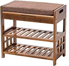 MLLZX Storage Stools, Simple And Modern Style Bamboo Storage Stool Seat Storage Box Waterproof Seated Test Shoes Stool Doo...