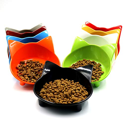 Beito Cute Cat Bowl Shallow Cat Food scodelle Wide Cat Dish...