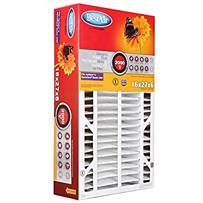 """BestAir A201-SGM-BOX-11R Furnace Filter, 20"""" x 25"""" x 6"""", Aprilaire Replacement, MERV 11"""
