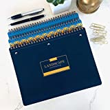 "Landscape Notebook 3 Pack (3 designs) 80 sheets (160 pages) , 7.5"" x 10"" Lined College Rule (monochrome & double-sided), Spiral bound (wire-o) Perforated pages, 3-hole punch, Stiff back cover Made in the USA"