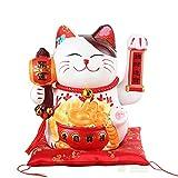 El hogar Creativo del Gato Afortunado de 10 Pulgadas adorna la Hucha de cerámica