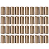 Cabilock 200Pcs Pvc Cápsulas Termocontraíbles Tapas Retráctiles de Vino Cápsulas de Botellas de Vino para Bodegas Y Uso Doméstico Estilo de Botella Doble Bucal de Oro