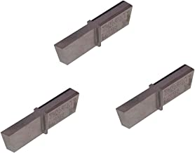 Grooving Insert for Steel Sharp Corner Cast Iron and Stainless Steel with Interrupted Cuts THINBIT 3 Pack LGT039D2R 0.039 Width 0.100 Depth Uncoated Carbide