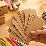 Flash Cards 200-Piece Kraft Paper Study Cards, Note Cards, Memo Scratch Pads, Index Cards, Perfect for Language Learning Thanksgiving Message Paper Business Cards DIY Tag Gift Card (kraft)
